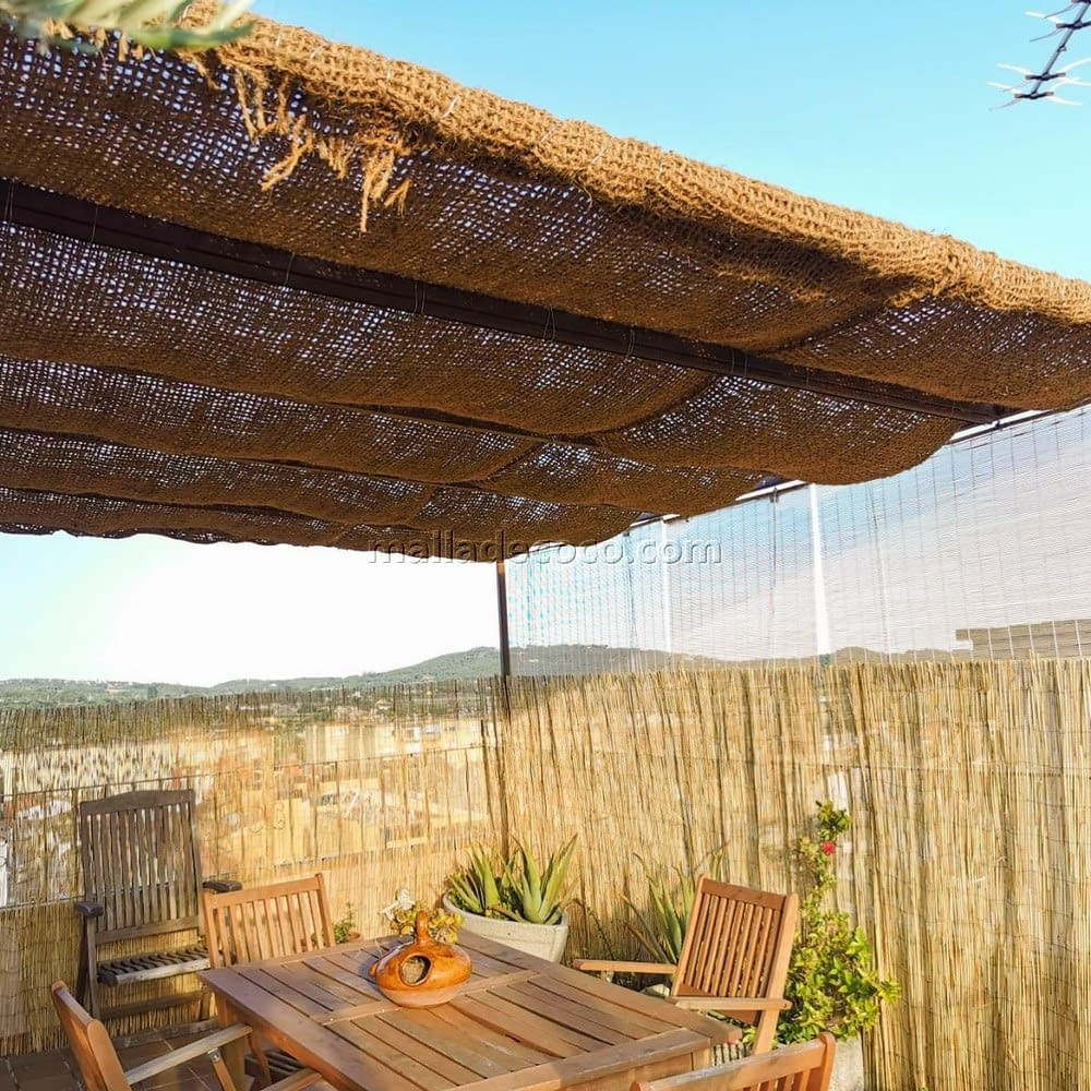 Malla de coco para sombreados Girona para pergolas y estructuras